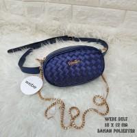 Limited Edition Tas Wanita Murah Webe Belt Biru