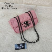Tas Tangan Handbag Tas Pesta Santai Chanel Max Pink Salem
