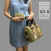 Tas Wanita Murah Handbag Selempang GC Speedy Cream / Gold