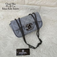 Tas Tangan Handbag Tas Pesta Santai Chanel Max Grey