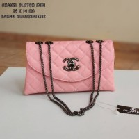 Tas Wanita Tas Pesta Santai Murah Chanel Clutch Mini PinkSalem