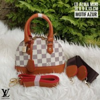 Limited Edition Tas Wanita Branded Murah Lv Alma Mini Azur