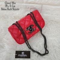 Tas Tangan Handbag Tas Pesta Santai Chanel Max Merah
