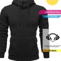 Jaket Sweater Hoodie Black Titan