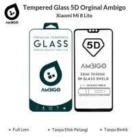Xiaomi Mi 8 Lite Tempered Glass 5D Color Full Cover Ambigo Original