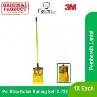 3M Scotch Brite Pel Strip Kotak Kuning Set ID-722 - Pel Lantai Praktis