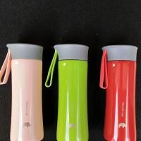 VACUUM FLASK TERMOS AIR PANAS + DINGIN TAHAN 300ML FOOD GRADE - Merah Muda