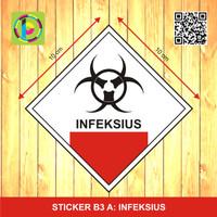Sticker Limbah B3 - Infeksius [size 10 cm]