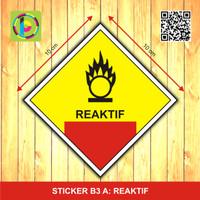 Sticker Limbah B3 - Reaktif [size 10 cm]