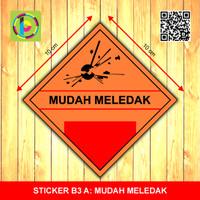Sticker Limbah B3 - Mudah Meledak [size 10 cm]