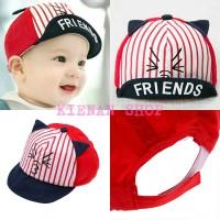 Harga topi bayi lucu karakter tulisan friends untuk cowok   antitipu.com