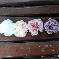 Jepit rambut hair clip mawar peony renda -