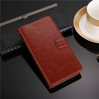 Flip Leather Case Oppo A5s Cover Wallet Dompet Kulit