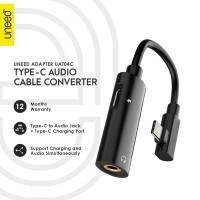 UNEED Audio Splitter Charging Adapter Type C to Audio Jack 3.5mm