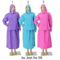 Jas Hujan Rok She Wanita Muslimah Setelan Murah (Seperti Salsa Plevia)
