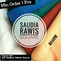 Ansania Segiempat Rawis Saudia Polos/Hijab/Jilbab/Kerudung