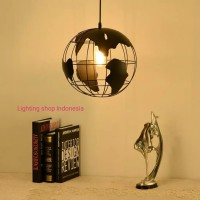 L761 lampu gantung model bola dunia dekor hias lighting vintage