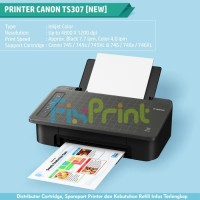 New Printer Canon TS307 TS-307 WiFi, Photo Printer Borderless (Tanpa