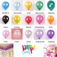 BALON LATEX METALIK (10PC) BALON PESTA ULANG TAHUN BALON MURAH