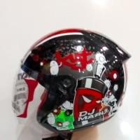 helm KYT dj maru #5 merah maron