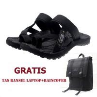 Harga sepatu casual dan formal salvo sandal gunung pria sg01 hitam | Pembandingharga.com