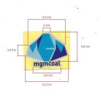 Print & Cut Sticker Logo Perusahaan / Helm Proyek Vynil Glossy 5.5 cm