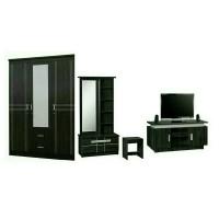 Paket Murah lemari 3 pintu, meja rias dan meja tv