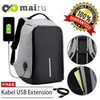 Mairu Anti Theft Backpack Smart Back Pack Tas Anti Maling Usb Charger