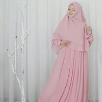 Khimar Neo Alexandria soft pink khimar satu lapis ceruti hijab alila