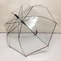 Payung tongkat transparan mangkok bintang - 585