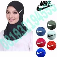 New Hijab Sport Logo Nike Hijab Instant Kerudung Instant Berkualitas