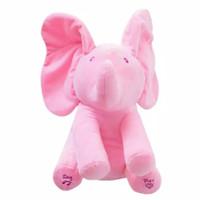 Boneka import gajah atau Elephant PEEK A BOO - Merah Muda 1ffcc8ff2a