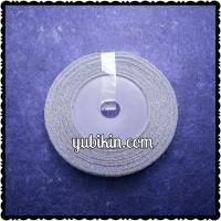1 Roll Pita Metalik 3/8inch 1cm Silver Perak