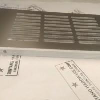 Ventilator Lubang Ventilasi Udara Kotak Bahan Plastik Silver 8X15cm