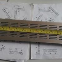 Ventilator Lubang Ventilasi Udara Kotak Bahan Plastik Silver 80X375 mm