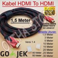 KABEL HDMI TO HDMI 1,5 METER HIGH QUALITY & HIGH SPEED