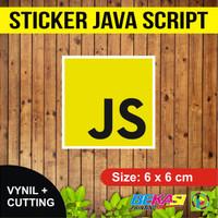 Sticker Java Script | Stiker Vinyl + Cutting 6 x 6 cm