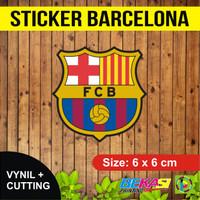 Sticker Barcelona FC | Stiker Vinyl + Cutting 6 x 6 cm