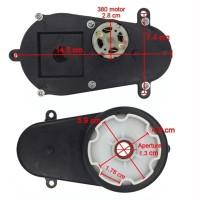 Gearbox Setir Stir + dinamo 12v mobil motor mainan aki model 2