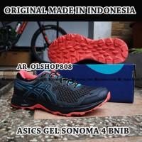 SEPATU Asics Gel Sonoma 4 ORIGINAL Black Grey 1011A177 Sepatu Running