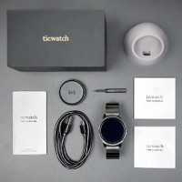 Ticwatch 2 Classic Onyx Stainless Steel Smartwatch with Stee BYsma345