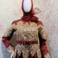 Gaun Pengantin Muslim - Gaun Lamaran - Gaun Akad nikah muslimah - Gaun