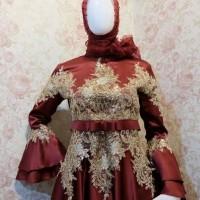 Gaun Pengantin Muslimah Syar i - Gaun Lamaran Syari - Gamis Akad nikah