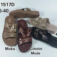 Jual Lbe1517d T 4cm Newera Sandal Selop Wanita Cewek Karet Motif