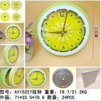 Jam Dinding unik model irisan jeruk