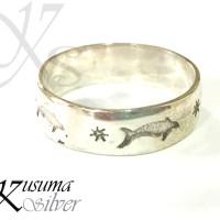 Cincin Ring Perak Silver Bali Motif Ikan Fish Pria Lelaki Wanita