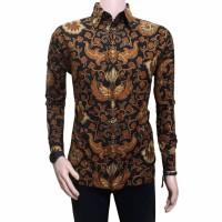 Harga pakaian pria bahan katun resmi kemeja pria batik lengan panjang | antitipu.com