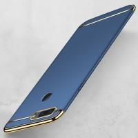 Harga oppo f9 plating 3in1 case slim electroplating matte casing | antitipu.com