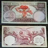 Uang Kertas Kuno 100 Rupiah Tahun 1959 Kondisi Bagus [Limited Edition]
