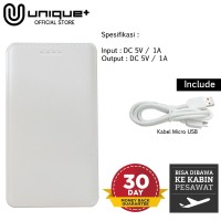 Unique Power bank 6000mAh Leather - PowerBank 6000 mah Leather White